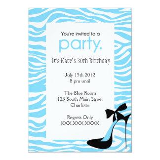 Zebra High Heel Party tiffany blye Invitation