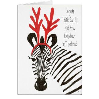 Zebra Holiday Cards