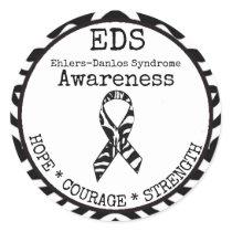 Zebra Hope & Strength EDS Sticker