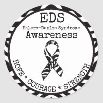 Zebra Hope & Strength EDS Sticker