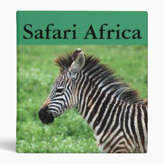zebra horse 3 ring binder