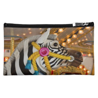 Zebra Horse Merry-go-round Carousel Ride Cosmetic Bag at Zazzle