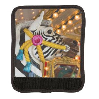 Zebra Horse Merry-Go-Round Carousel Ride Luggage Handle Wrap
