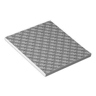 Zebra horse stripes pattern black & White Note Pad