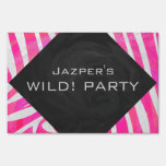 Zebra Hot Pink and White Print Signs