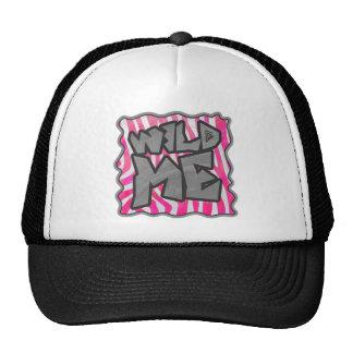 Zebra Hot Pink and White Wild Me Trucker Hat