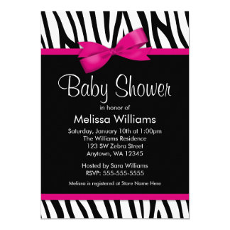 zebra print invitations & announcements | zazzle, Birthday invitations