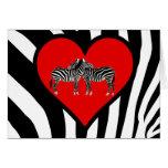 Zebra Hugs Card