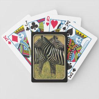 Zebra Hugs Photo Art Playing Cards