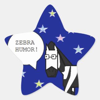 Zebra Humor Star Stickers
