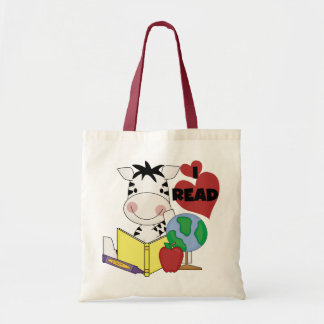 Zebra I Read Tshirts and Gifts Tote Bags