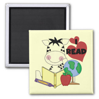 Zebra I Read Tshirts and Gifts Refrigerator Magnets