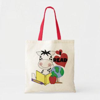 Zebra I Read Tshirts and Gifts Tote Bag