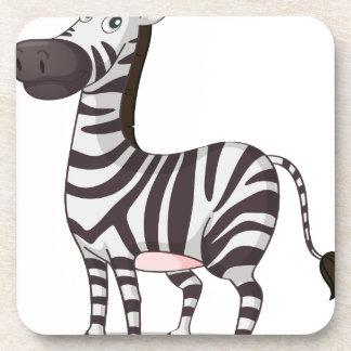 Zebra illustration coasters