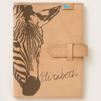 Zebra Image with Personalized Name Journal