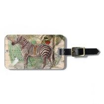Zebra in Africa Bag Tag