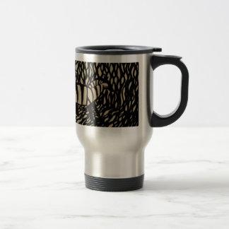 Zebra in camouflage mugs