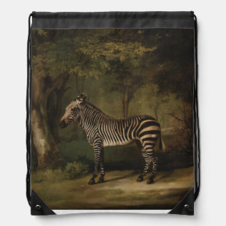 Zebra in Forest Drawstring Backpack