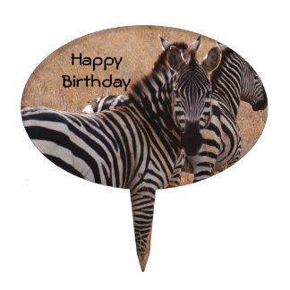 Zebra in Kenya Cake Topper