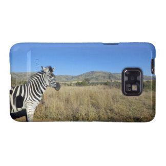 Zebra in open plain, Pilansberg National Park, Galaxy SII Covers