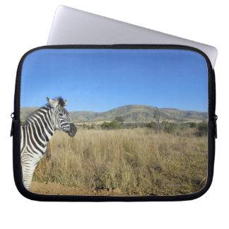 Zebra in open plain, Pilansberg National Park, Laptop Sleeves