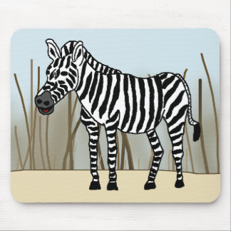 Zebra in the Savanna Mouse Pad