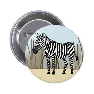 Zebra in the Savanna Pinback Button