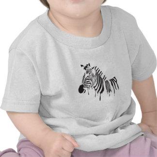 Zebra Ink Drip Shirts