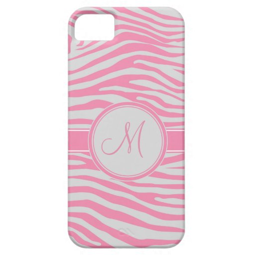 Zebra Inspired Monogrammed Pattern iPhone 5 Covers