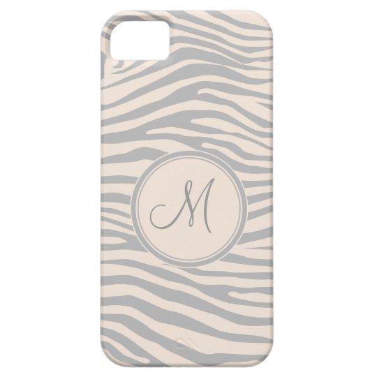 Zebra Inspired Monogrammed Pattern iPhone SE/5/5s Case