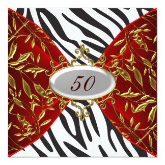 Zebra Invitation Birthday Anniversary