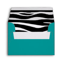 "Zebra Invitation Envelope – 5 ¾"" W x 4 3/8"""