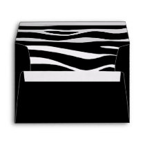 "Zebra Invitation Envelope –  7 ¼"" wide x 5 ¼"""