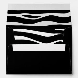 "Zebra Invitation Envelope –  7 ¼"" wide x 5 ¼"""
