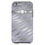 Zebra iPhone 6 Tough Jewelry Glitter iPhone 6 Case