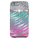 Zebra iPhone 6 Tough Jewelry Glitter Pink iPhone 6 Case