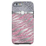 Zebra iPhone 6 Tough Jewelry Glitter PS iPhone 6 Case