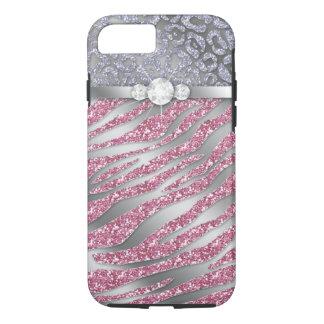 Zebra iPhone 7 Tough Jewelry Glitter PS iPhone 8/7 Case