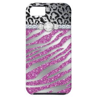 Zebra iPhone Case Mate Tough Jewelry Glitter
