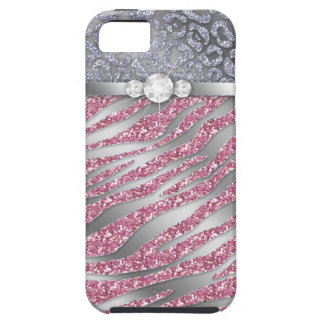 Zebra iPhone Case Mate Tough Jewelry Glitter PS