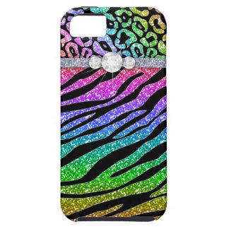 Zebra iPhone Case Mate Tough Rainbow Glitter B
