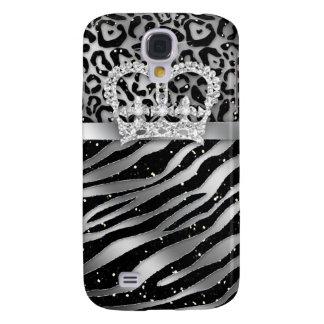 Zebra iPhone Cover Black Jewelry Crown Sparkle