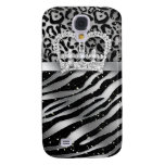 Zebra iPhone Cover Black Jewelry Crown Sparkle Galaxy S4 Covers