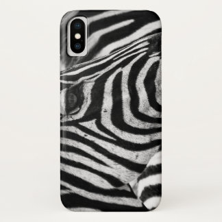 Zebra iphone x cover, animal print case