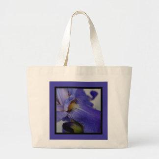 zebra iris 'tongue' (square) canvas bags