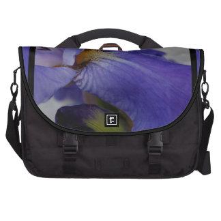 zebra iris 'tongue' (square) commuter bag