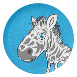 Zebra is Cute Dinner Plate