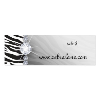 Zebra Jewelry Hang Tag Fashion Double-Sided Mini Business Cards (Pack Of 20)