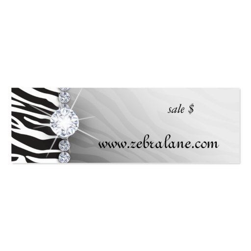 Zebra Jewelry Hang Tag Fashion Business Card Template