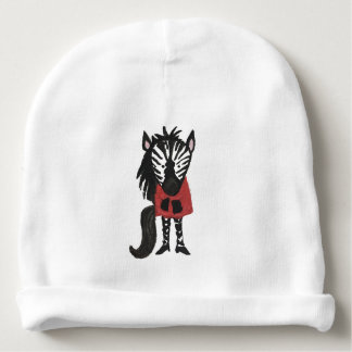 Zebra Jungle Friends Baby Animal Water Color Baby Beanie